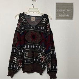 LF Furst of a Kind | eye eye cold shoulder sweater